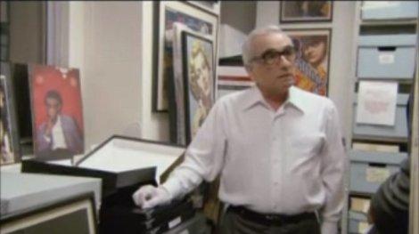 Martin Scorsese dans ses archives.