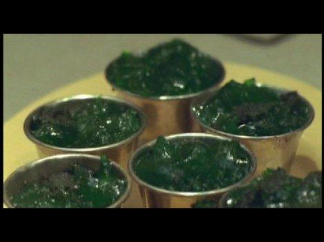 Les appétissants pots de jelly, à la cantine de LWT.