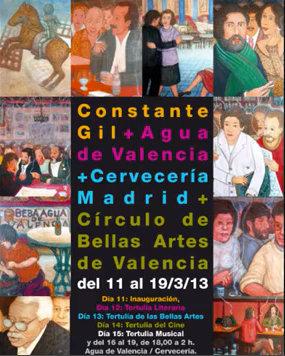 Affiche de l'exposition Constante Gil à Madrid, en mars 2013.