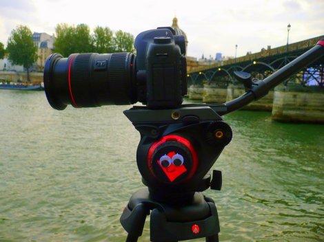 La caméra de Stephanie Dufford. (c) Claire Dixsaut