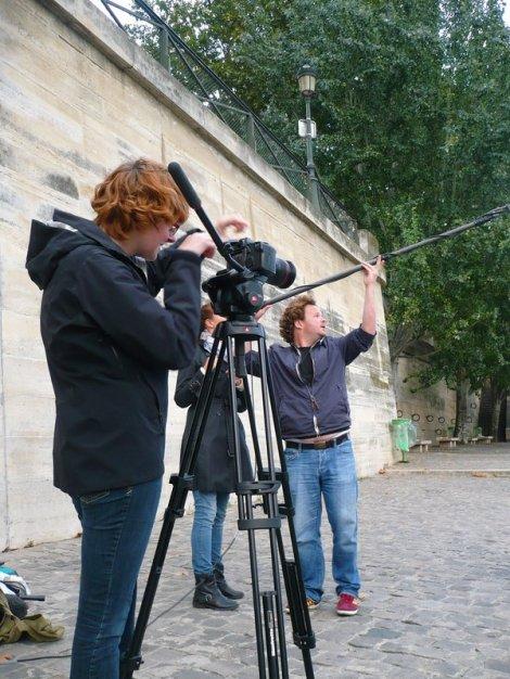 Stephanie Dufford à la caméra, Jack C. Newell à la perche. (c) Claire Dixsaut