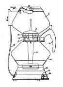 Les plans du brevet de la cafetière Automatic de 1939. Elle est améliorée en 1942 par un dispositif magnétique qui remplace le joint de caoutchouc. (c) General Electric